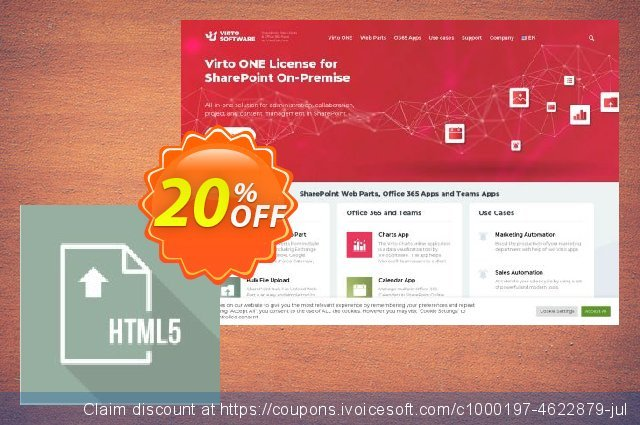 Virto Html5 File Upload for SP2013 discount 10% OFF, 2020 Halloween deals