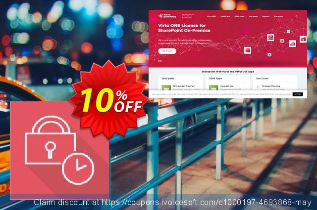 Dev. Virto Password Expiration Web Part for SP2016 discount 10% OFF, 2019 Summer discount