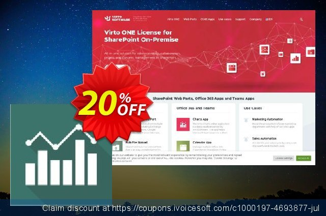 Virto Jquery Charts for SP2016 discount 10% OFF, 2020 University Student deals offering sales