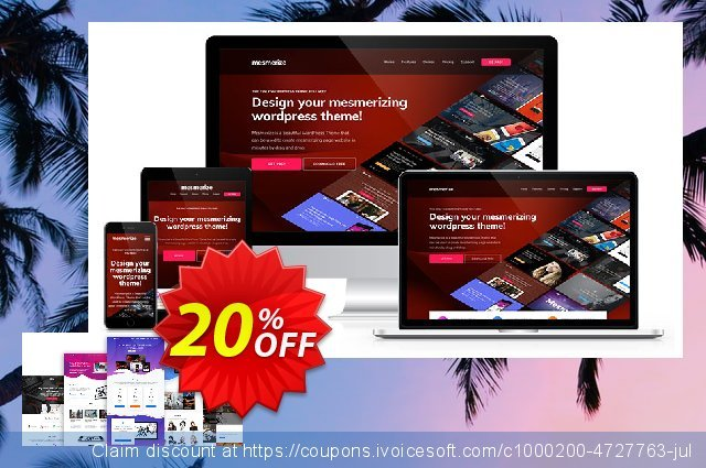 Mesmerize PRO - Premium License discount 20% OFF, 2020 University Student deals offering sales