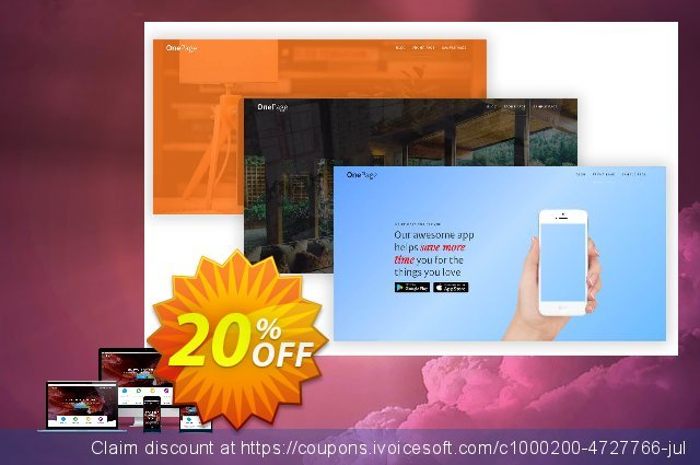 One Page Express PRO - Premium License discount 20% OFF, 2020 Halloween offering sales