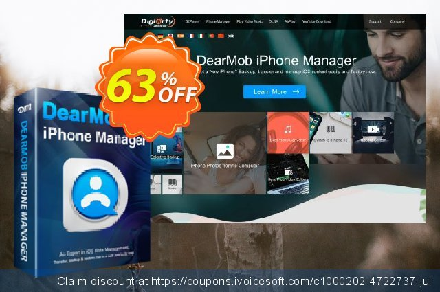 Get 30% OFF DearMob iPhone Manager (Lifetime 2PCs) offering sales
