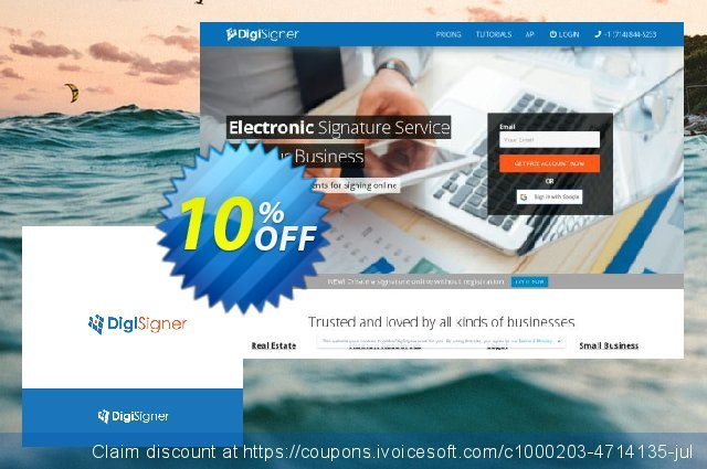 DigiSigner Monthly Subscription discount 10% OFF, 2020 American Independence Day offering sales