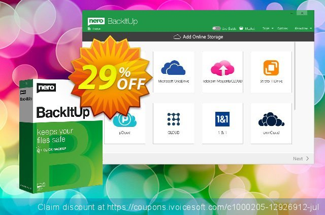 Nero BackItUp 2020 discount 29% OFF, 2020 Halloween offering sales