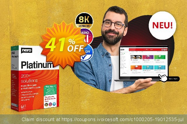 Nero Platinum Suite 7in1 discount 41% OFF, 2021 Mother's Day discount. 30% Support - Subscription Products