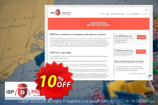 ISPProtect Malware Scanner - 12 Months discount 10% OFF, 2020 Halloween offering sales