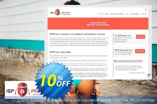 ISPProtect Malware Scanner - 50 Scans discount 10% OFF, 2019 Back to School promo offering sales