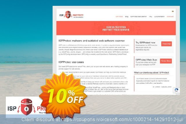 ISPProtect Malware Scanner - 100 Scans discount 10% OFF, 2019 University Student offer offering discount
