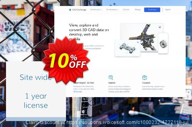 CAD Exchanger (site-wide) discount 10% OFF, 2021 Valentines Day offering sales