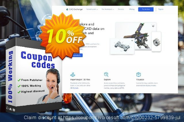 CAD Exchanger Cloud (pro) discount 10% OFF, 2020 New Year's Day offering sales