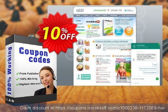 Chameleon Software Modification Services: 500USD discount 10% OFF, 2020 Spring offering sales