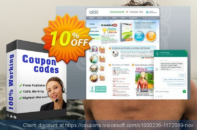 Chameleon Software Modification Services: 700USD discount 10% OFF, 2019 Year-End promo
