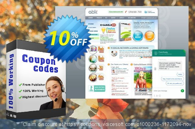 Chameleon Software Modification Services: 800USD discount 10% OFF, 2020 Back to School shopping offering sales