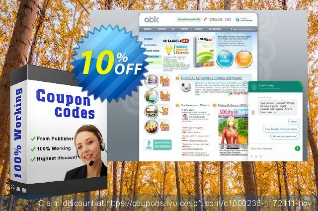 Chameleon Software Modification Services: 1150USD discount 10% OFF, 2020 Back to School event promo
