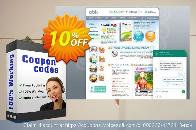 Chameleon Software Modification Services: 1200USD discount 10% OFF, 2020 Halloween offering sales