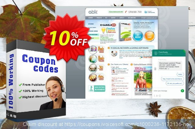 Chameleon Software Modification Services: 1350USD discount 10% OFF, 2020 Back to School offer offering sales