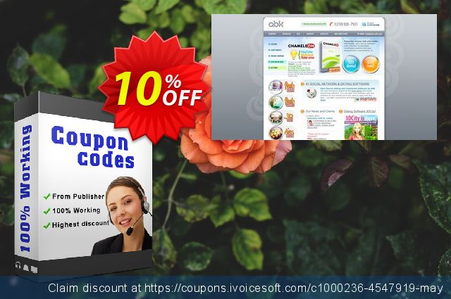 Chameleon Multi Domain License + 2 designs, Discounted price  훌륭하   촉진  스크린 샷