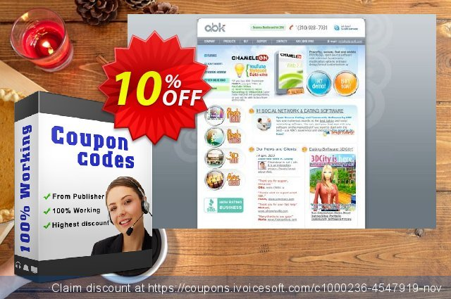 Chameleon Multi Domain License + 2 designs, Discounted price discount 10% OFF, 2020 College Student deals offering sales
