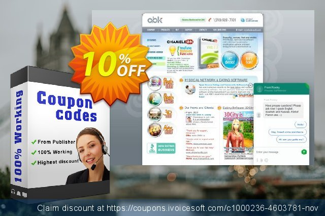 Chameleon Single Domain License for 397 USD discount 10% OFF, 2020 Back to School Promos offering sales