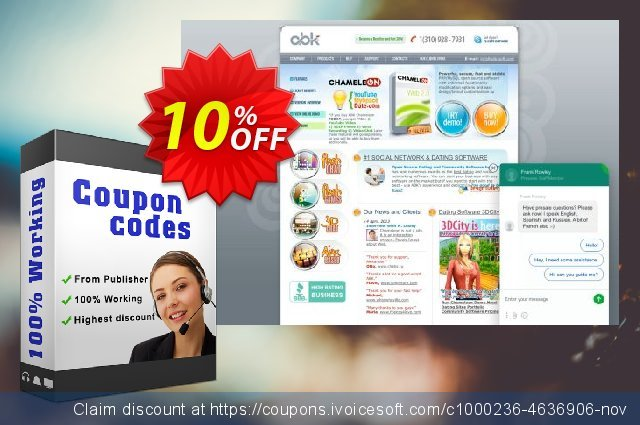 Chameleon Software + Themes (2 Domains) discount 10% OFF, 2020 Halloween offer