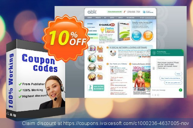 Chameleon Software Script + All Templates (2 domain names) 壮丽的 产品销售 软件截图