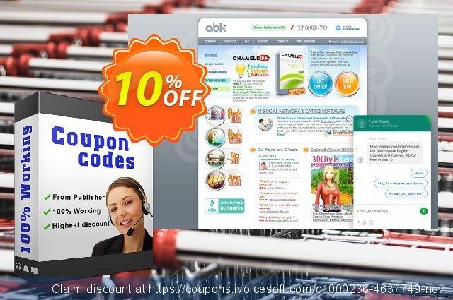 Chameleon Script + Themes 5 licenses, 50% discount 大きい アド スクリーンショット