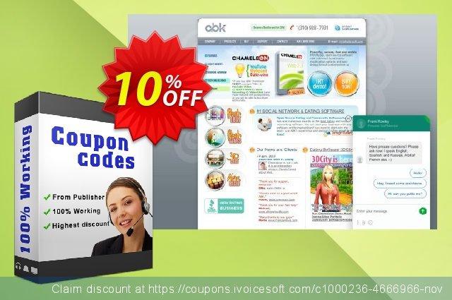 Chameleon Software + Themes (10 domain license) 大的 折扣 软件截图