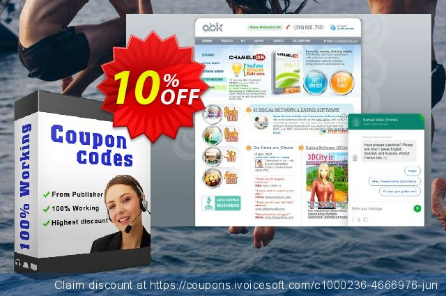 Chameleon Software + Themes (Unlimited domains license) 壮丽的 产品交易 软件截图