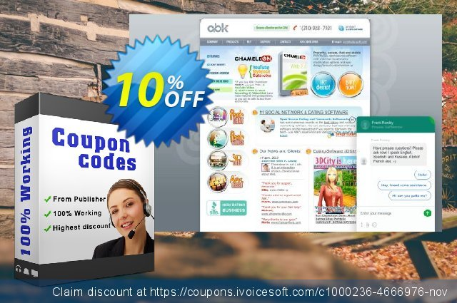 Chameleon Software + Themes (Unlimited domains license) discount 10% OFF, 2020 Back to School shopping offering sales