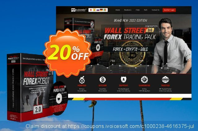 WallStreet Forex Robot Full License discount 20% OFF, 2020 Father's Day discounts