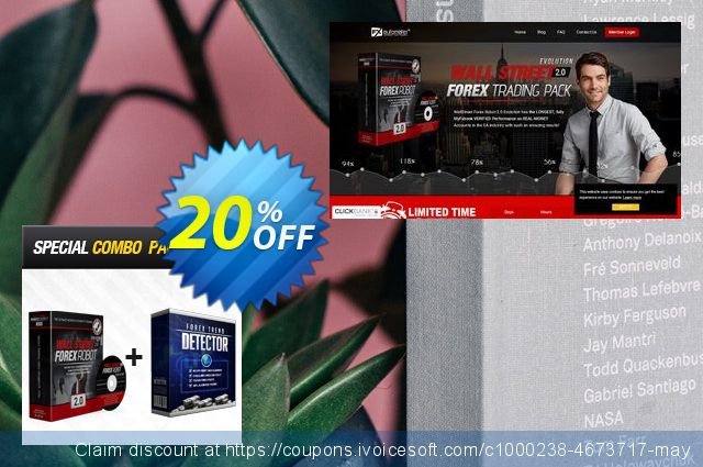 WallStreet Forex Robot 2.0 Evolution + Forex Trend Detector discount 20% OFF, 2019 Year-End offering discount