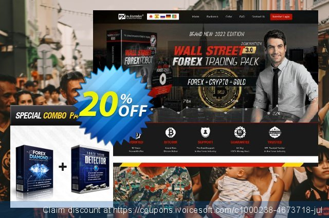 Forex Diamond EA + Forex Trend Detector discount 20% OFF, 2020 Halloween discount