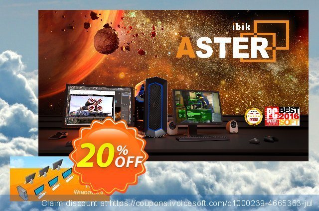 ASTER Pro-1 Additional workplace discount 20% OFF, 2019 Halloween offering discount