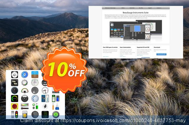 BeauGauge Instruments Suite 7.x (25 Developer License) discount 10% OFF, 2020 Happy New Year promo sales
