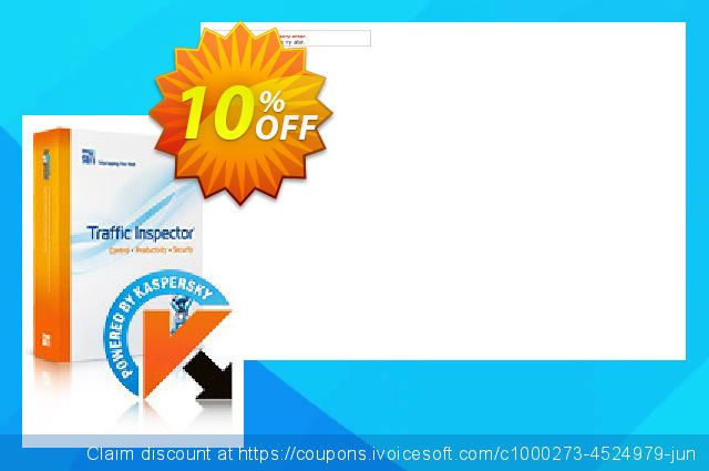 Traffic Inspector + Traffic Inspector Anti-Virus  Gold 10 discount 10% OFF, 2019 Back to School event promo sales