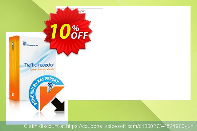 Traffic Inspector + Traffic Inspector Anti-Virus Gold 15 discount 10% OFF, 2019 Back-to-School promotions promo