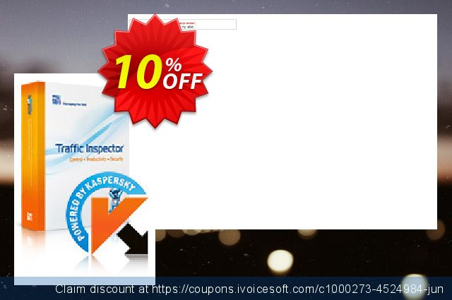 Traffic Inspector + Traffic Inspector Anti-Virus Gold 40 discount 10% OFF, 2019 Back to School coupons offering sales