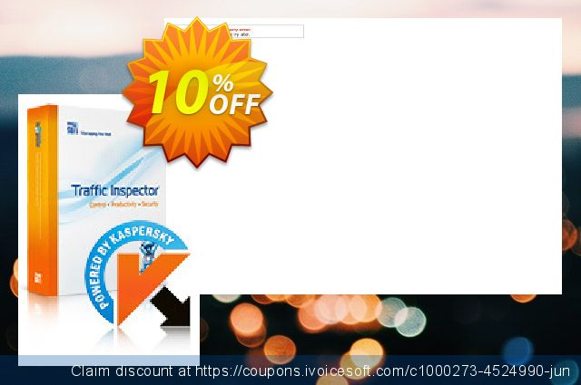 Traffic Inspector + Traffic Inspector AntiVirus Unlimited discount 10% OFF, 2020 Working Day offering sales
