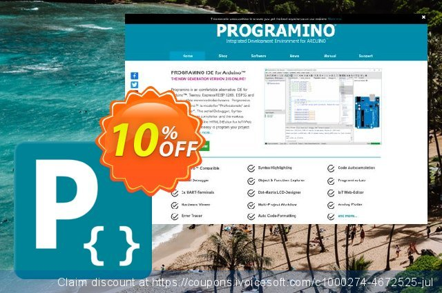 PROGRAMINO IDE for Arduino - Private discount 10% OFF, 2019 Exclusive Teacher discount offering sales