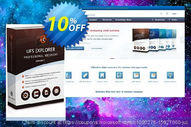 UFS Explorer Professional Recovery for Linux - Commercial License (1 year of updates) discount 10% OFF, 2020 New Year offering sales