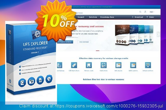 UFS Explorer Standard Recovery (Corporate License) discount 10% OFF, 2020 University Student deals offering sales
