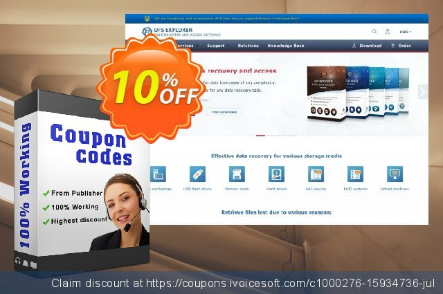 UFS Explorer RAID Recovery for Windows - Corporate License (1 year of updates) discount 10% OFF, 2020 Back to School season promo