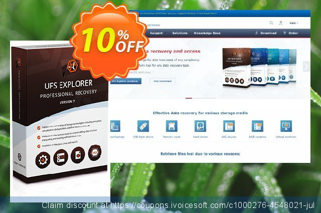 UFS Explorer Professional Recovery (version 5 for Linux) - Business License discount 10% OFF, 2020 Labour Day offering sales