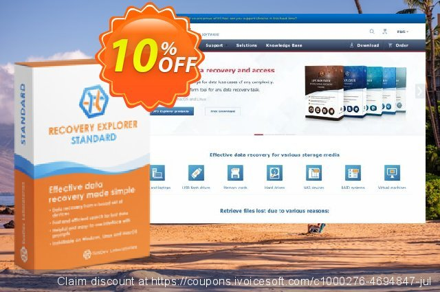 Recovery Explorer Standard (for Windows) - Personal License discount 10% OFF, 2020 Exclusive Student deals offer