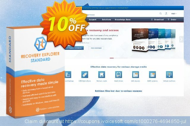 Recovery Explorer Standard (for Linux) - Personal License discount 10% OFF, 2020 January discounts
