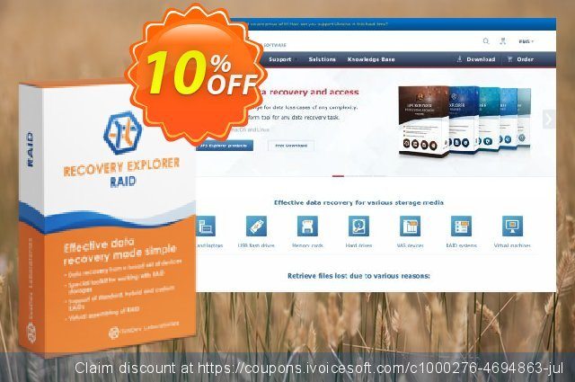 Recovery Explorer RAID (for Linux) - Personal License discount 10% OFF, 2020 Back to School deals promotions