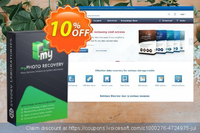 myPhoto Recovery - Personal License discount 10% OFF, 2020 New Year promo