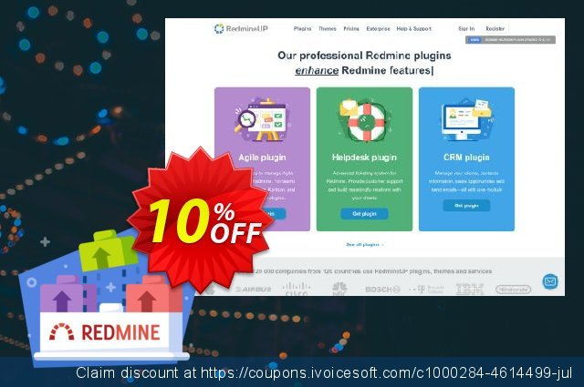 RedmineUP full stack bundle discount 10% OFF, 2020 Back to School deals offering sales