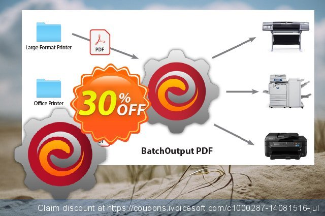 BatchOutput PDF discount 30% OFF, 2019 Back to School shopping promo