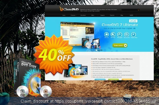 CloneDVD DVD Copy lifetime/1 PC discount 30% OFF, 2020 Exclusive Teacher discount offering sales